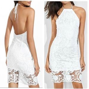 Express White Lace Halter Sheath Dress 2/Small